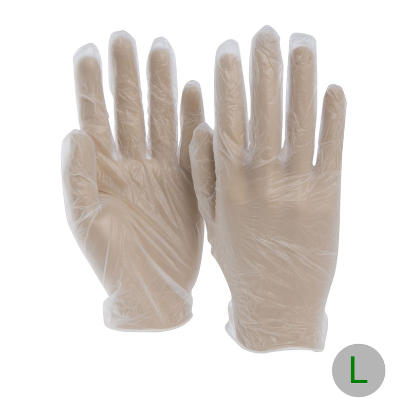 Vinyl Glove Powder Free Large, 10x100 CT