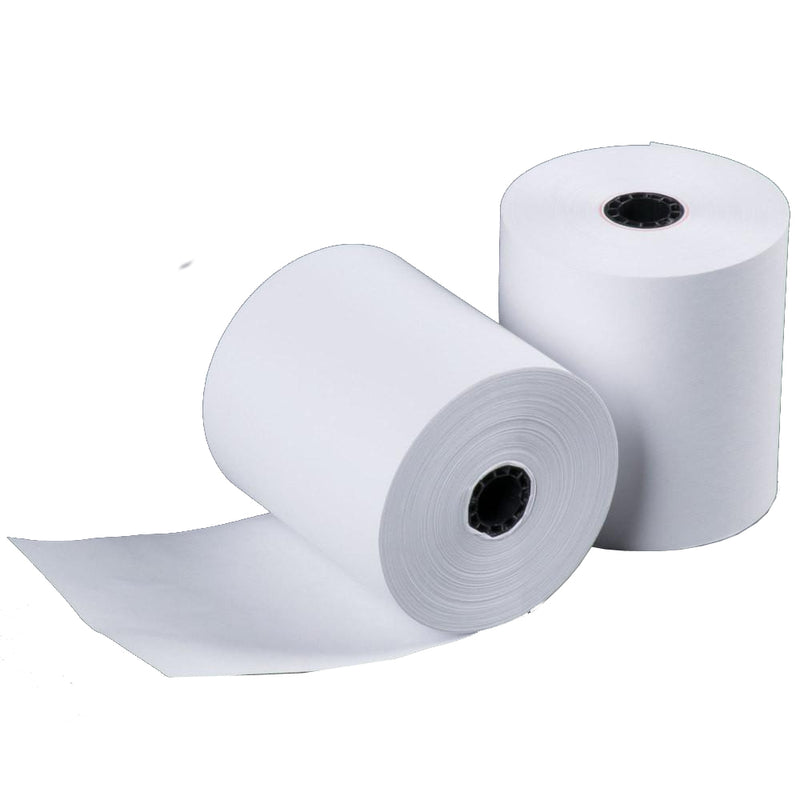 "Single Ply White Bond Roll 3""x165', 50 Rolls"
