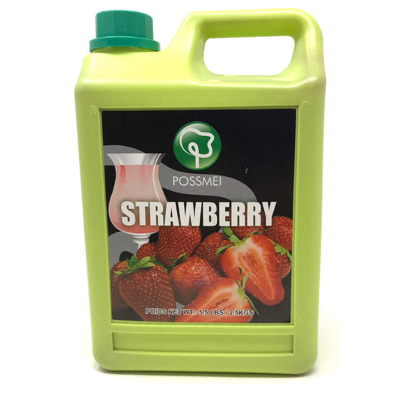Possmei Strawberry Syrup, 6x5.5#
