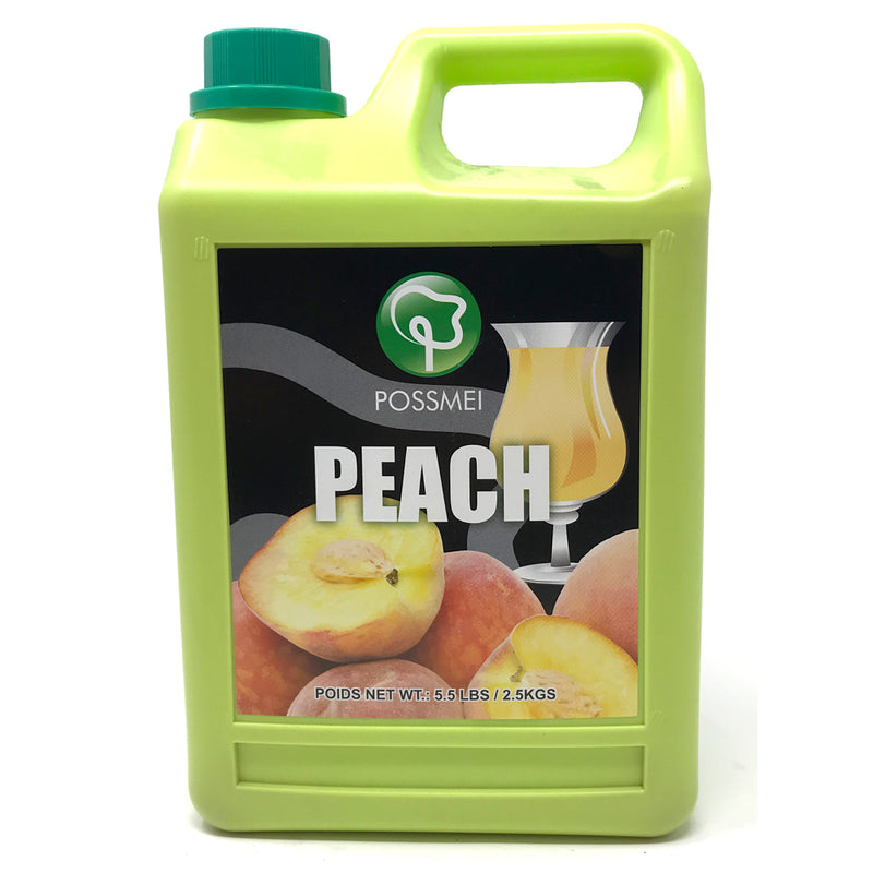 Possmei Peach Syrup, 6x5.5#