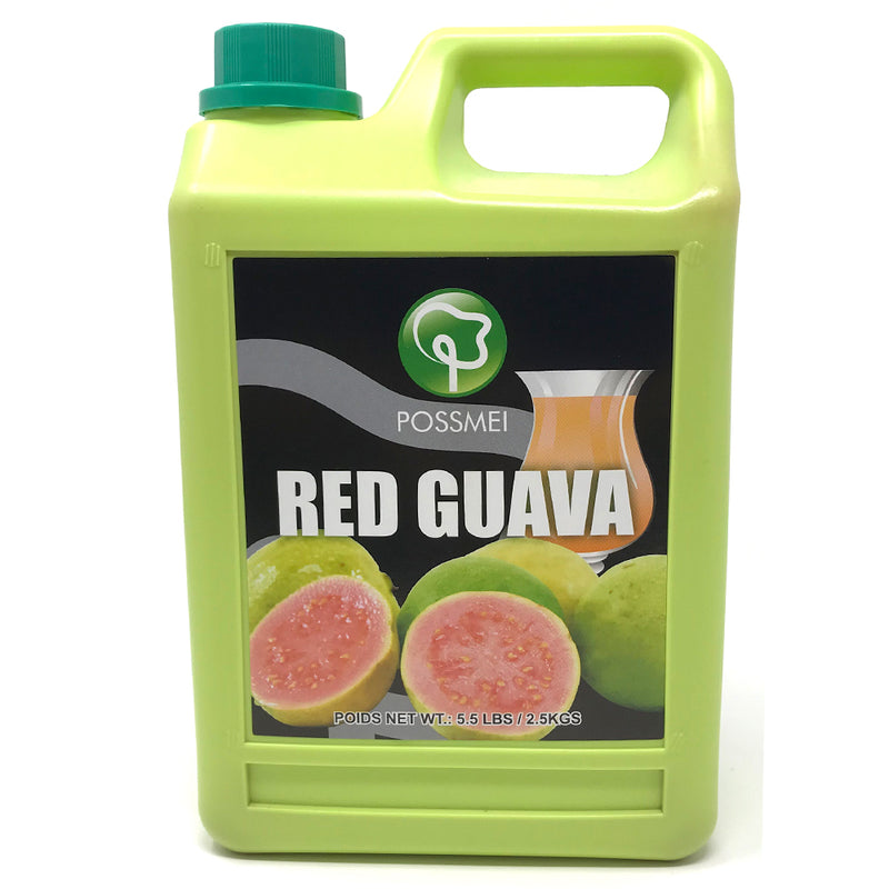 Possmei Red Guava Syrup, 6x5.5#