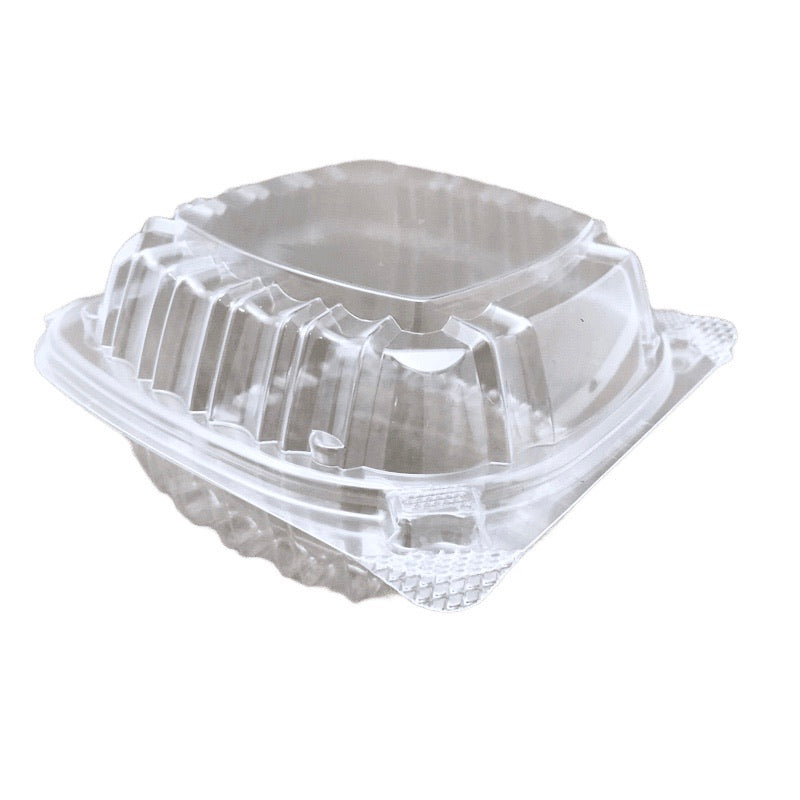 "Dart C53PST1  5-3/8"" x 5-1/4"" x 2-5/8"" Clear Hinged Container, 500/CS"