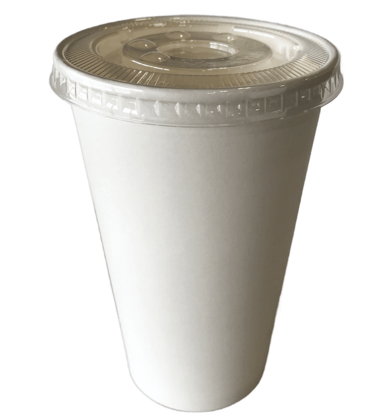 Clear PET Flat Lid For 16OZ Cold Paper Cup, 1000/CS