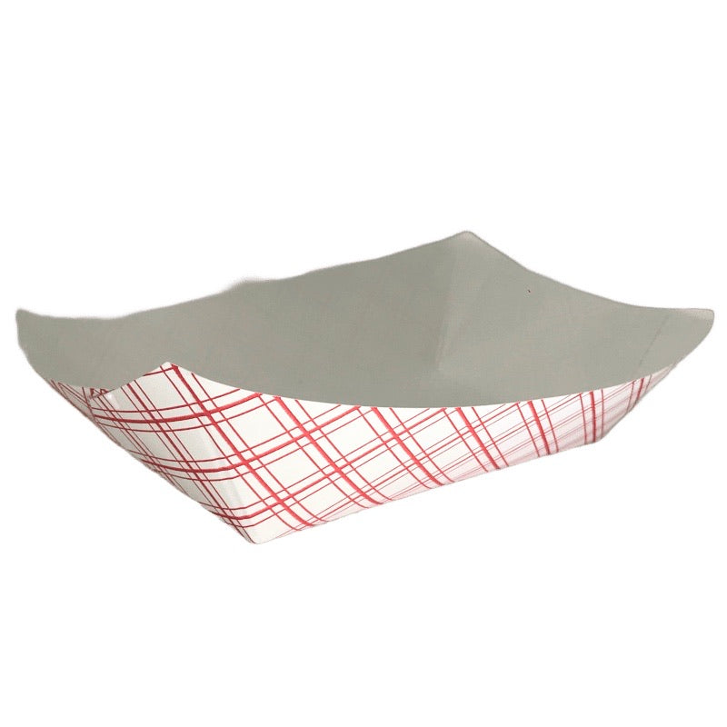 EFT300 Empress Food Tray 3LB Red Plaid, 2X250