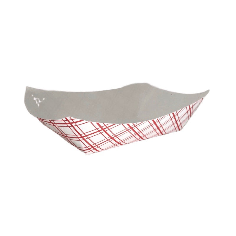 EFT200 Food Tray 2LB Red Plaid