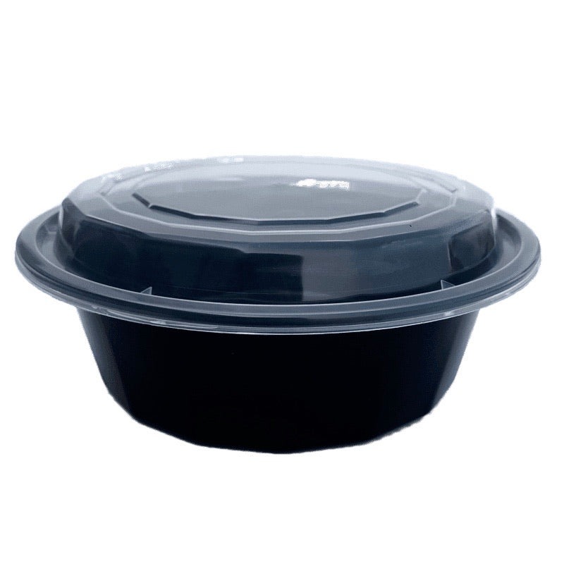 TD F-7032 32OZ Round Plastic Container and Lid, 150 Sets