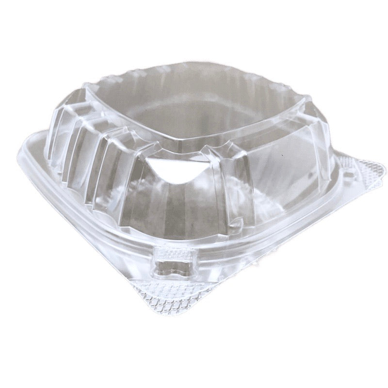 "Dart C57PST1 6"" x 5-3/4"" x 3"" Clear Hinged Container, 500/CS"