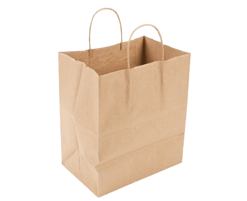 Paper Bag w/ Handle Kraft Bistro Shopper 10X6.75X12 87490, 250/CS