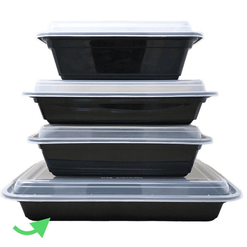 58OZ Rect Plastic Container and Lid