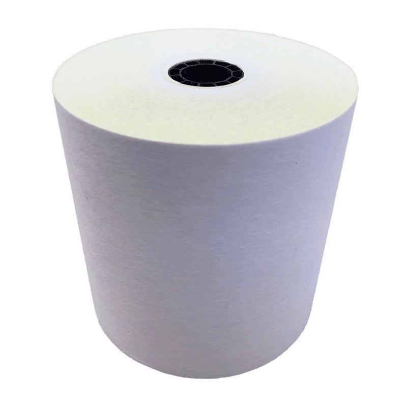 "2-Ply Carbonless White / Yellow Roll 3""x95', 50 Rolls"