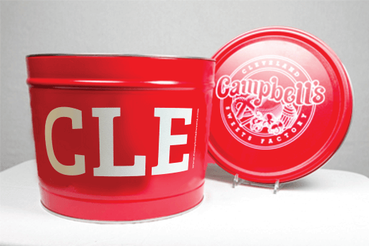 2 Gallon I Heart CLE Red Tin