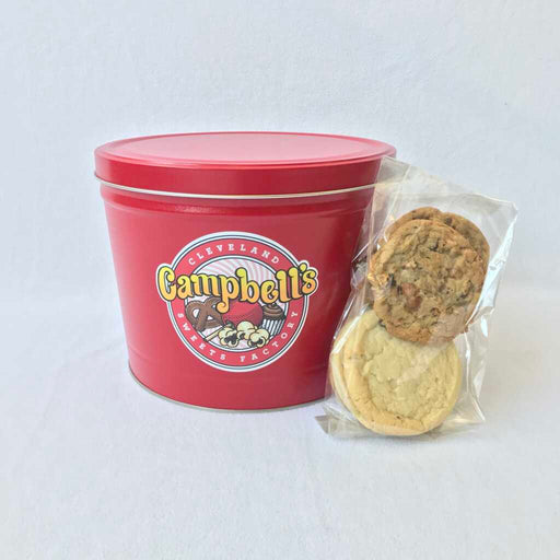 2 Gallon Tin and Cookies
