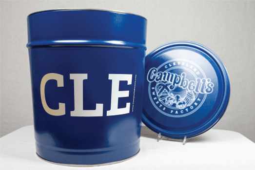 3.5 Gallon I Heart CLE Blue Tin