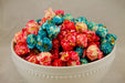 Bowl of Cotton Candy Popcorn