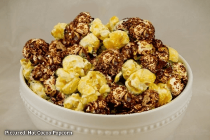 Bowl of Hot Cocoa Popcorn