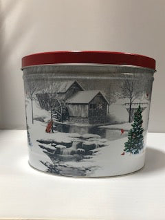 2 Gallon Snow Covered Mill Tin