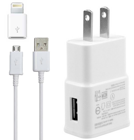 All in One Charger for Samsung Galaxy Phones and Apple iPhone with Lighting Port