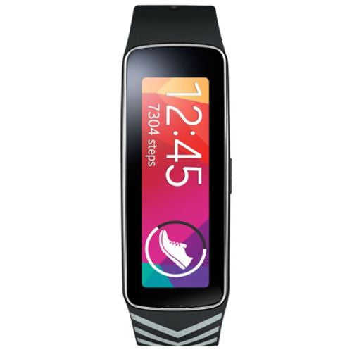 "Samsung Galaxy Gear Fit  Plastic Band - Black Silver - ""Nicholas Kirkwood limited edition"""