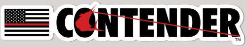 Contender Red Line Vinyl Decal Sticker