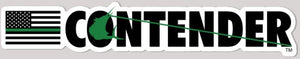 Contender Green Line Vinyl Decal Sticker