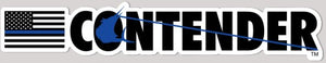 Contender Blue Line Vinyl Decal Sticker