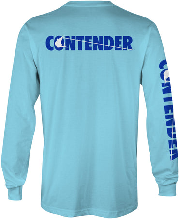 Contender Charter Light Blue Long Sleeve Tee