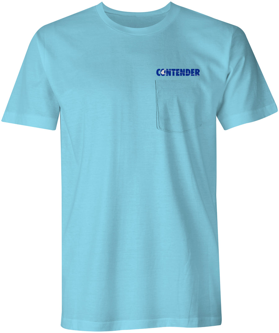 Contender Charter Light Blue Short Sleeve Tee