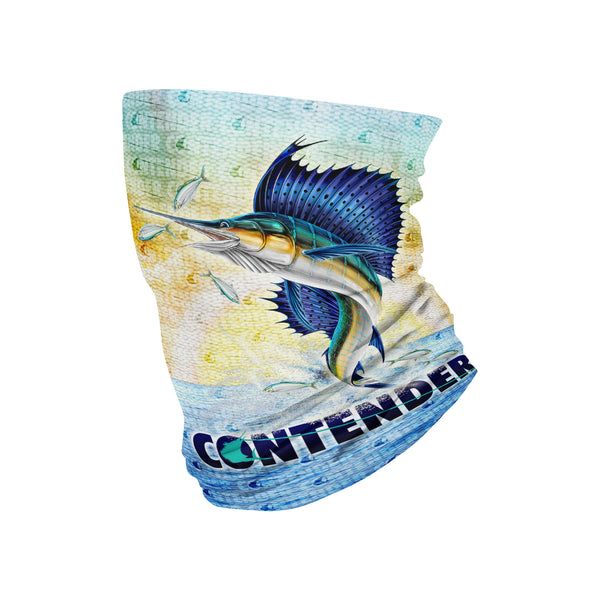 Contender Full Color Sailfish Buff Neckwear