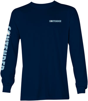 Contender Deep Blue Navy Long Sleeve T Shirt