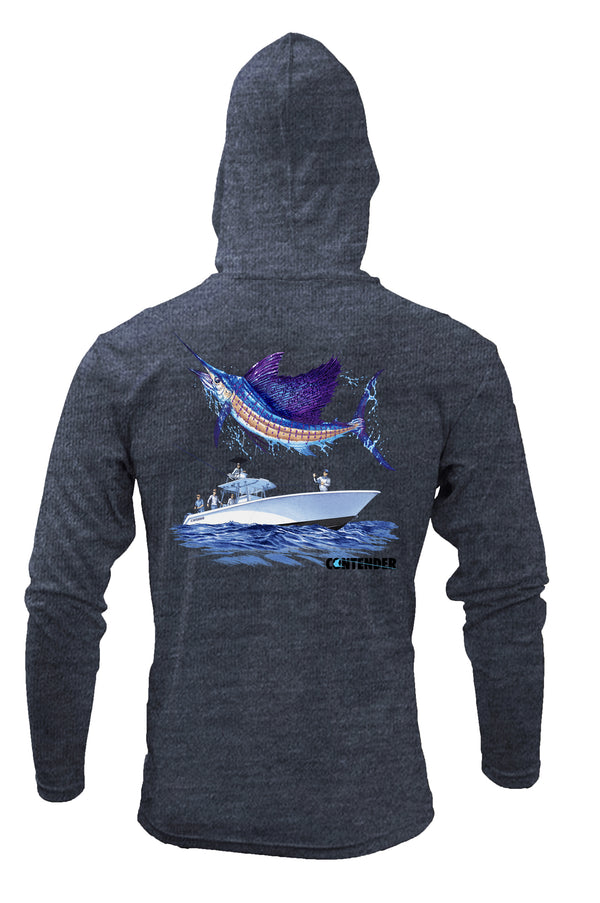 Contender New Sailfish Hooded Performance Long Sleeve Shirt