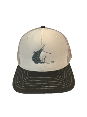 Contender Sailfish Icon Grey/Charcoal/Black Trucker Snapback Hat