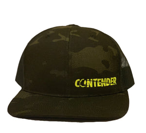 Contender Tactical Multi Camo Black Trucker Snapback Hat