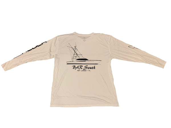 Kluch x Bar South White Long Sleeve Performance Fishing Shirt