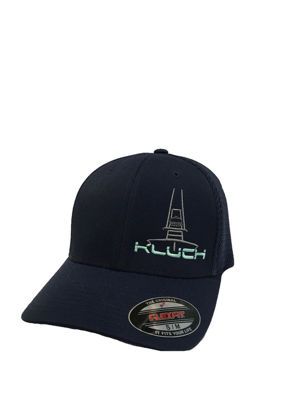 Kluch At You Navy Performance Fitted Hat