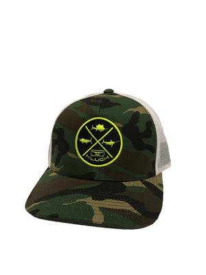 Kluch Grand Slam Camo Army/White Snapback Hat