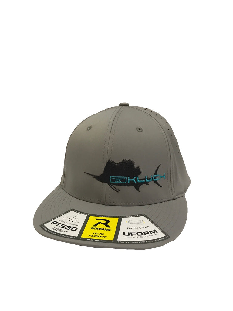Kluch Silver Sailfish Performance Silver Fitted Hat