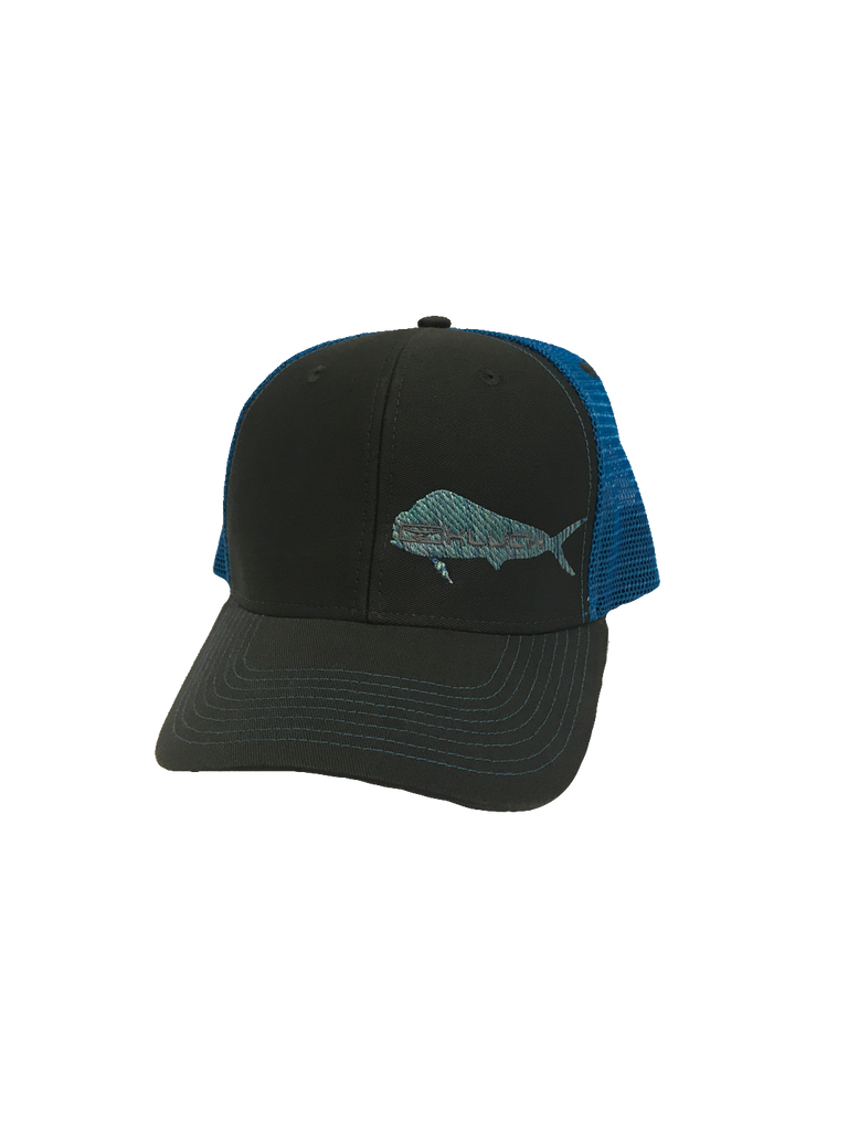Kluch Dolphin Dark Grey/Neon Blue Trucker Hat