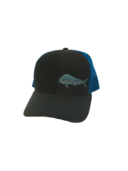 Kluch Dolphin Dark Grey/Neon Blue Trucker