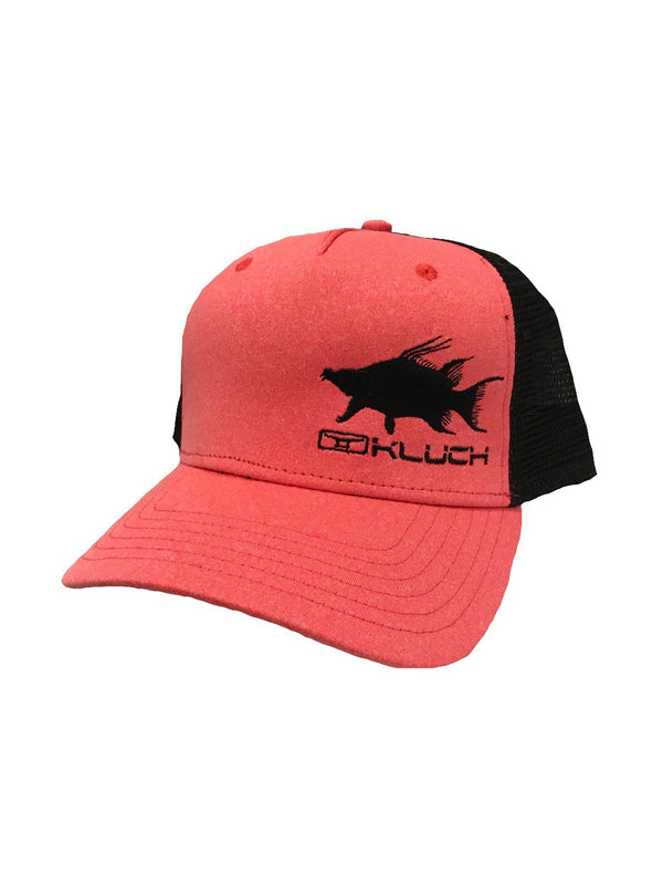 Kluch Hogfish Heather Coral/Black Trucker Hat