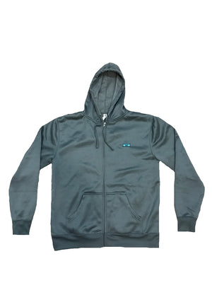 Kluch Performance Full Zip Up Grey Hoodie for Men