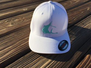Contender Seafoam Sailfish Icon White Flexfit Hat