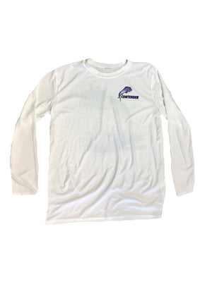 Contender Dolphin Performance Kids White Long Sleeve T Shirt