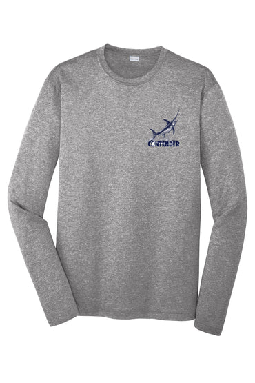 Contender Jumping Swordfish Heather Performance Long Sleeve Tee