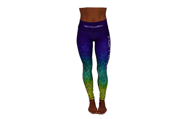 Kluch Mahi Skin Womens Green Leggings