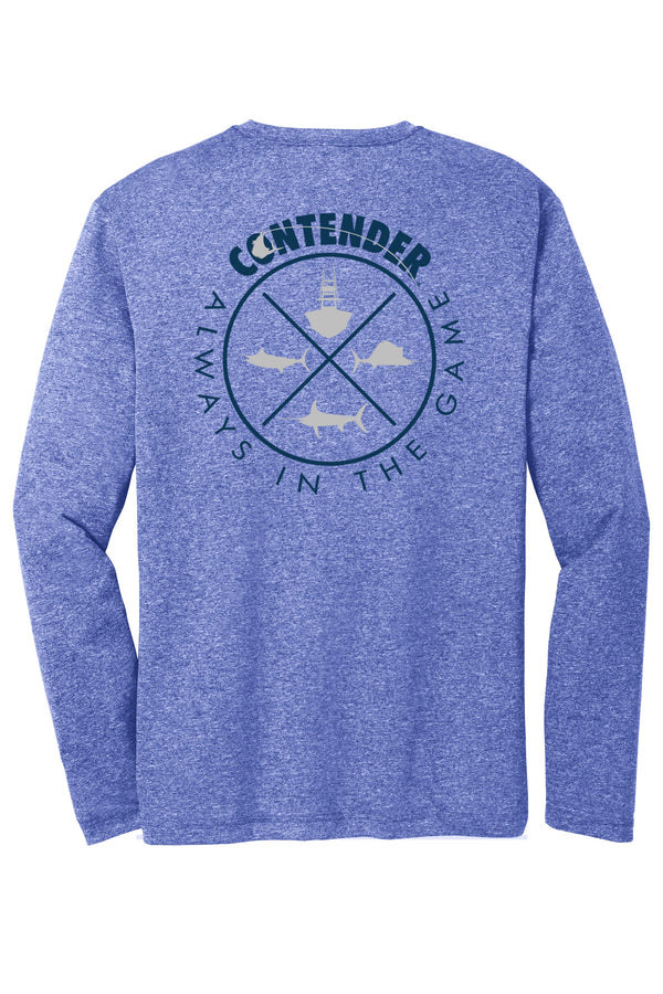 Contender Always in the Game Performance Indigo Long Sleeve T Shirt