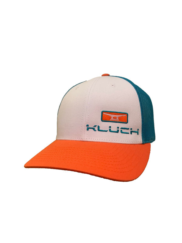 Kluch Cleat Teal/Orange/White Trucker
