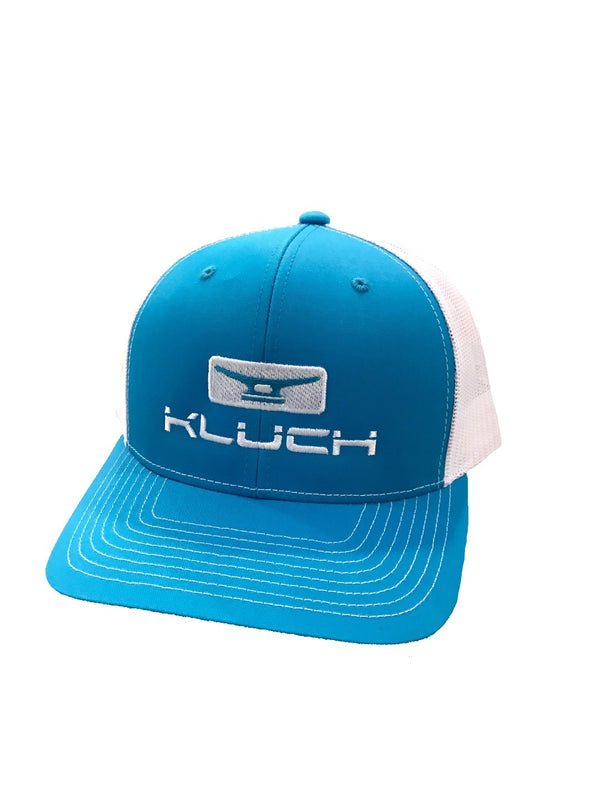 Kluch Classic Cleat Cyan Blue/White Trucker Hat