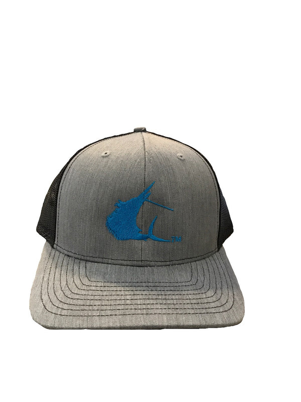 Contender Sailfish Icon Heather Grey/Black Trucker Snapback Hat