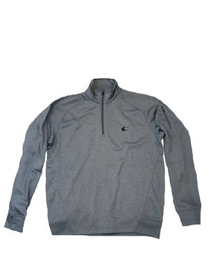 Contender Grey Heather Performance Mens 1/4 Zip Fleece Jacket