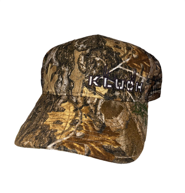 Kluch Real Tree Edge Camo & Antler trucker Hat